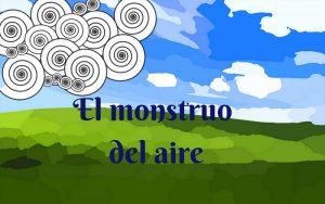 """portada audiocuento infantil """"El monstruo del aire"""""""