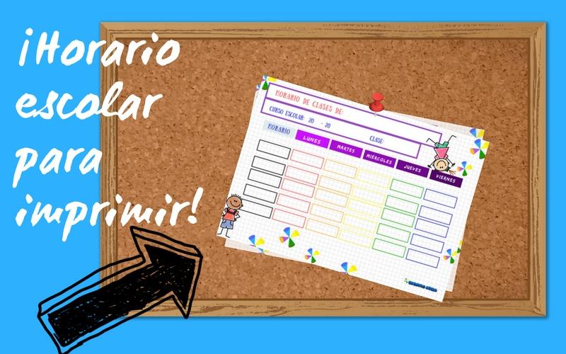 horario de clases para imprimir cuentitis aguda horario escolar para descargar estudio organizar deberes