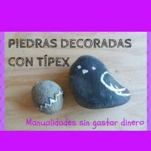 piedras decoradas con tipex manualidades sin gastar dinero