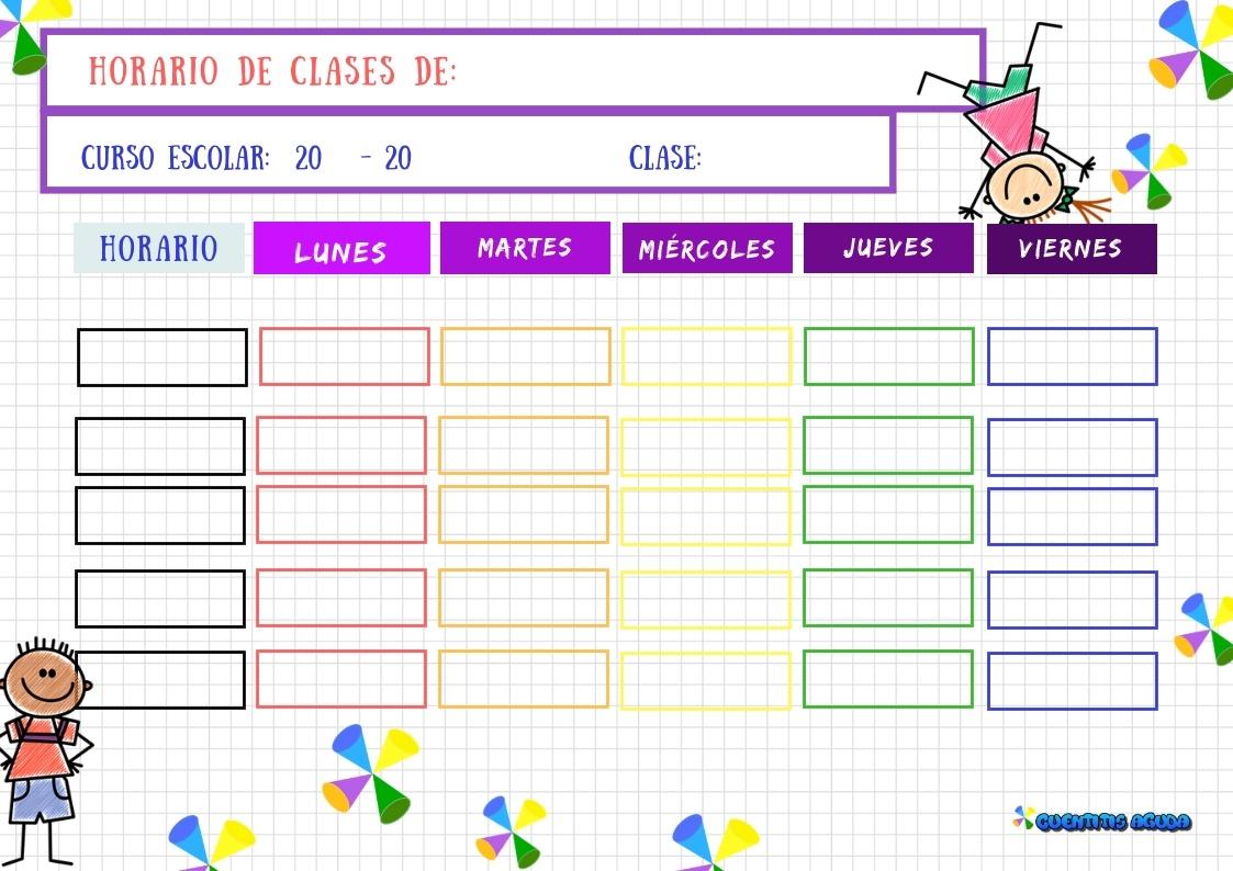 organizar horario de estudio deberes agenda escolar horario de clase para niñas