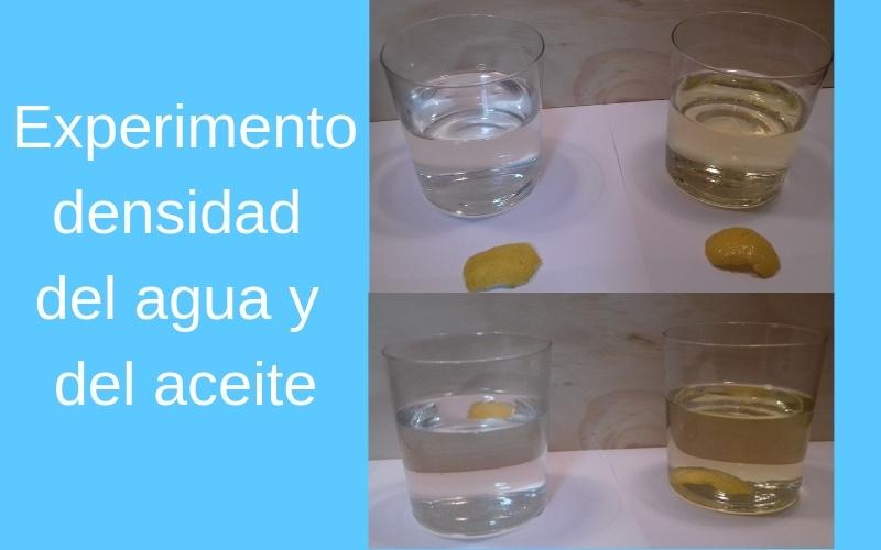 explicar la densidad a niños con experimentos sencillos experimentos caseros para niños