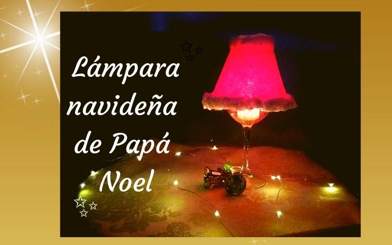 lampara navideña hecha con copa