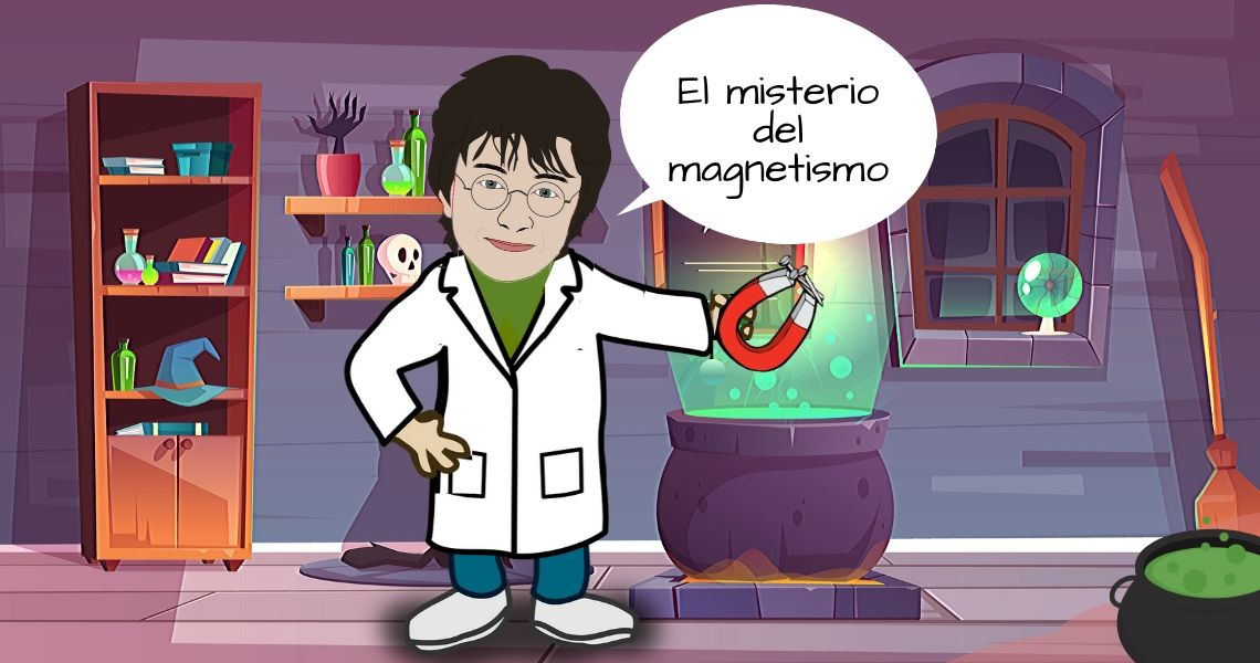 Harry Potter en laboratorio con iman