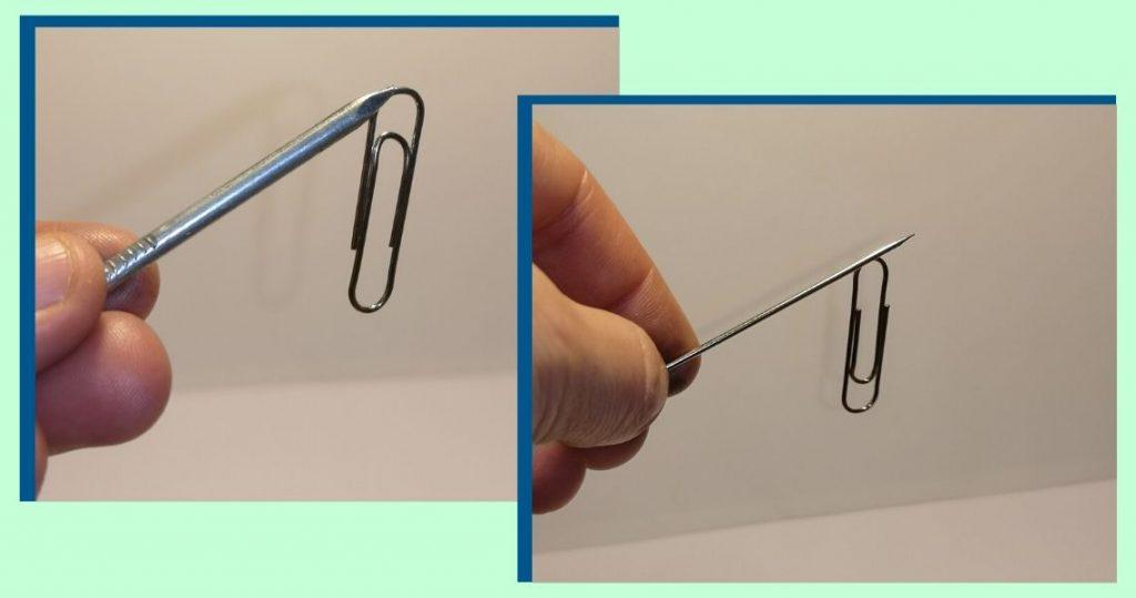 aguja imantada con clip