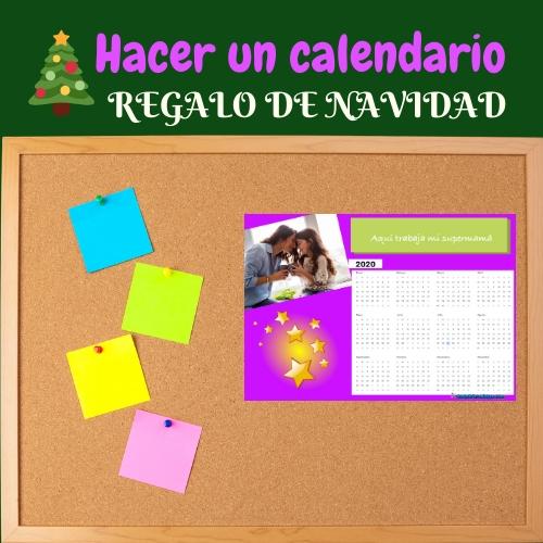 corcho con calendario personalizado