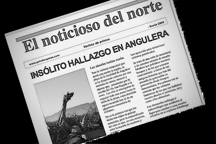 portada de periódico con foto dragón petrificado