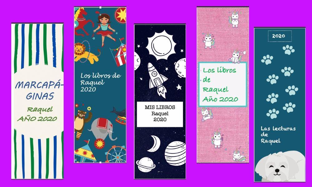 5 marcapaginas infantiles o puntos de lectura