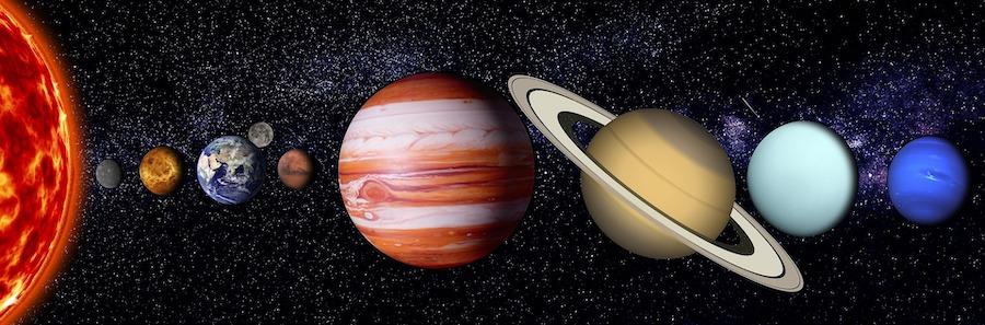 planetas del sistema solar alineados