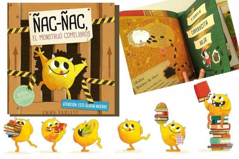 imágenes libro infantil con monstruo que come libros