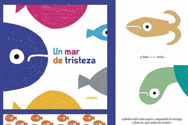 portada libro infantil con peces